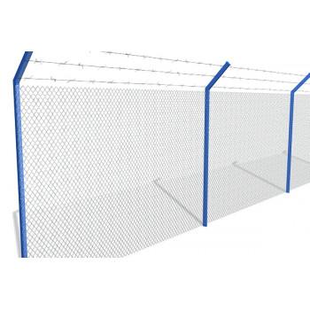 Столб крашенный 57х2.5м.(рабица)