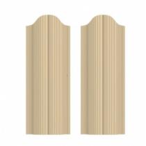 Штакетник П полукруглый 130 х 1800; Оц 0.40 (RAL 1014)