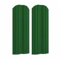 Штакетник М полукруглый 130 х 1800; Оц 0.40 (RAL 6002)