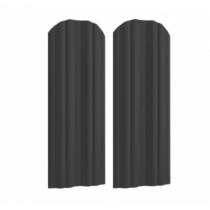 Штакетник М полукруглый 130 х 1800; Оц 0.40 (RAL 7024)
