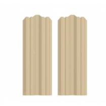 Штакетник М фигурный 130 х 1500; Оц 0.40 (RAL 1014)