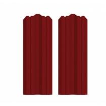 Штакетник М фигурный 130 х 1800; Оц 0.40 (RAL 3011)