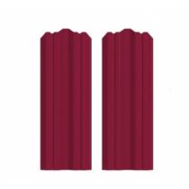 Штакетник М фигурный 130 х 1500; Оц 0.40 (RAL 3005)