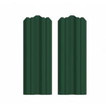 Штакетник М фигурный 130 х 2000; Оц 0.40 (RAL 6005)
