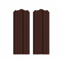 Штакетник М фигурный 130 х 1500; Оц 0.40 (RAL 8017)