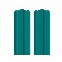 Штакетник М фигурный 130 х 1800; Оц 0.40 (RAL 5021)