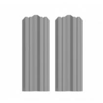 Штакетник М фигурный 130 х 1500; Оц 0.40 (RAL 7004)